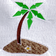 Island Scene Embroidered Download
