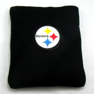 Pittsburgh Steelers Embroidered Fleece Rice Heating Pad Front View