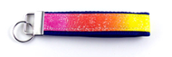 Rainbow Themed Key Fob Wristlet Front View