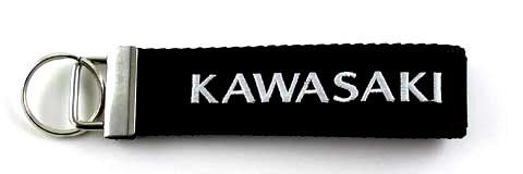 KAWASAKI Embroidered Biker Key Fob Front View
