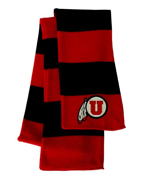 Utah Utes Red/Black Sportsman Knit Scarf