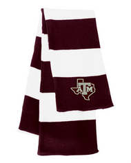 Texas A&M University Maroon/White Sportsman Knit Scarf