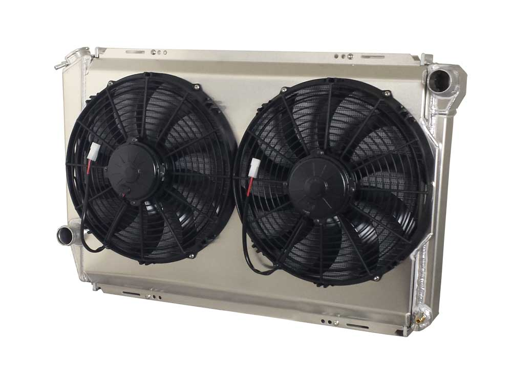 Dual Fan Non-Integrated Fan Shroud