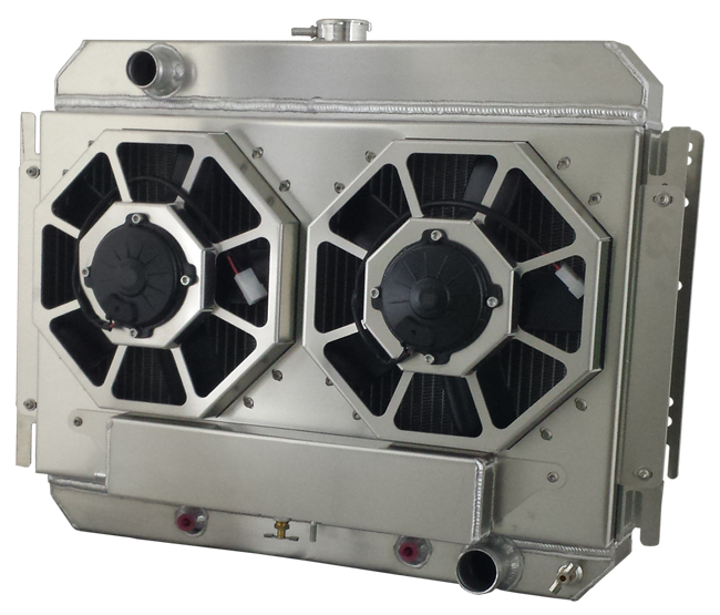 dual fan integrated fan shroud