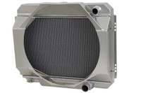 "1968-1969 Ford Mustang (24"" Wide Core) Aluminum Radiator WITH SHROUD"