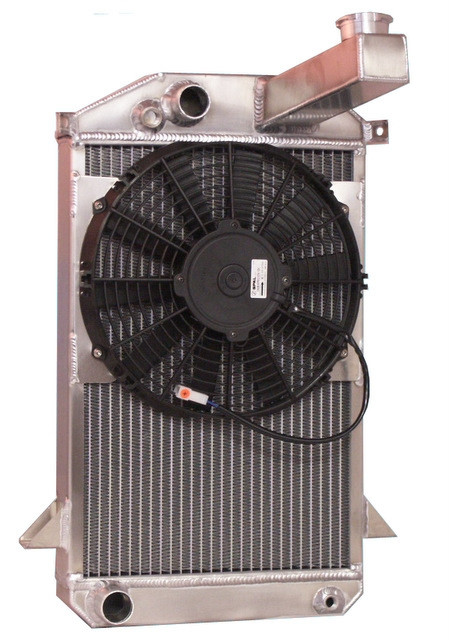 "1953-1965 Triumph TR2/ TR3 Aluminum Radiator with 11"" Fan"