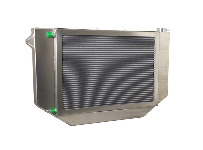 1955-1957 Chevrolet Bel Air/ Impala (LS Engine Crossflow Conversion Package) Aluminum Radiator w/ AC Condenser