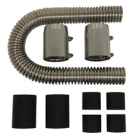 "24"" STAINLESS CHROME RADIATOR HOSE KIT"