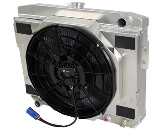 Radiator with brushless fan shroud