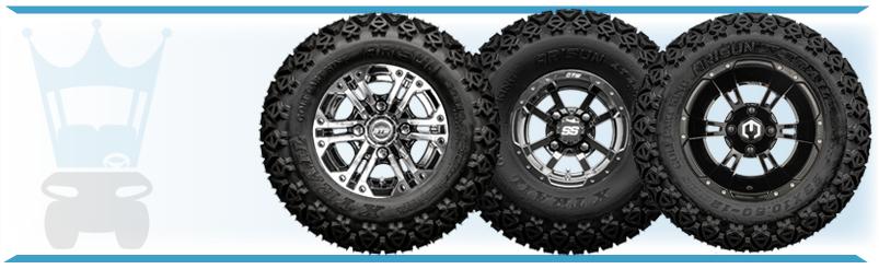 Golf Cart Wheel & Tire Comobos with All Terrain Tires