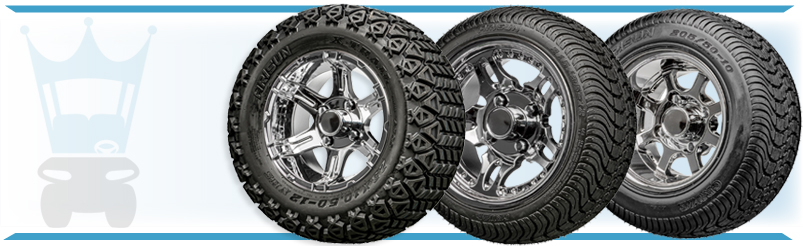 Golf Cart Wheel & Tire Chrome Clearance