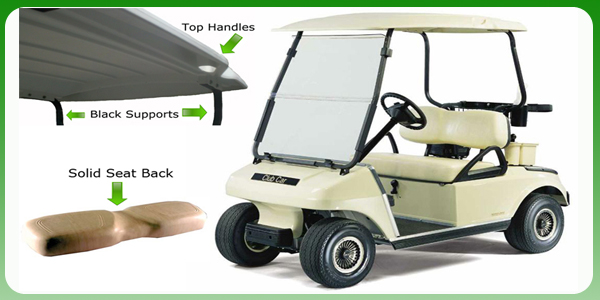 Club Car DS 2000.5+: Roof Handles, Solid Seat Back