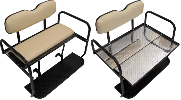 golf cart rear flip seat kits