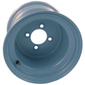 "10"" Steel, Silver, Standard Golf Cart Wheel"