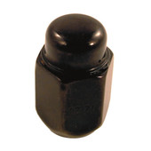 Lug Nut, Acorn Flat Black Metric 12x1.25