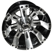 "10"" RHOX Vegas Machined Golf Cart Wheel"