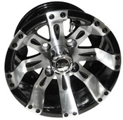 "10""x7"" RHOX Vegas Machined Golf Cart Wheel"