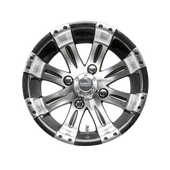 "12""x7"""" RHOX Vegas Machined Golf Cart Wheel TIR-RX180"