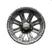 "12"" RHOX Vegas Matte Black Golf Cart Wheel TIR-RX184"