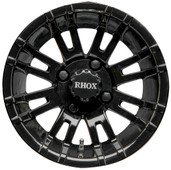 "12""x7"" RHOX RX271 Black Golf Cart Wheel"