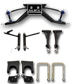 """Madjax 6"""" A-Arm Lift Kit for Club Car DS with Black Plastic Dust Caps (2003-newer)"""