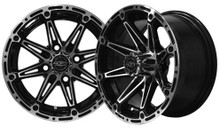 Madjax Element 12x7 Machined/Black Wheel