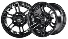 Madjax Mirage 10x7 Black Wheel Color Insert Options