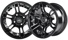 Madjax Mirage 14x7 Black Wheel Color Insert Options