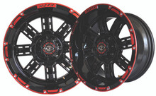Madjax Transformer 12x7 Black/Red Wheel
