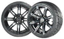 "Madjax 14"" Illusion Wheels with Street Low Profile Tire Options Combo"