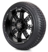 """Madjax 14"""" Transformer Matte Black with Street Low Profile Tire Options Combo"""