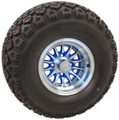 "10"" RHOX Phoenix Machined w/ Blue Wheel (shown with RHOX Mojave tire)"
