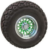 "10"" RHOX Phoenix Machined w/ Green Wheel (shown with RHOX Mojave tire)"