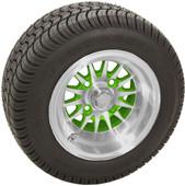 "RHOX 10"" Phoenix Machined w/ Green Wheel (shown with RXLP tire)"