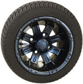 "RHOX 10"" Vegas Matte Black Wheel (shown with RXLP tire)"