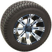 "RHOX 10"" Vegas Machined Matte Black Wheel (shown with RXLP tire)"