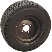 "RHOX 10"" Steel Black Wheel (shown with RXLP tire)"