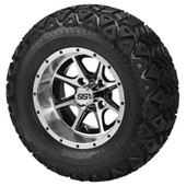 """""""Tremor"""" - 12"""" Machined and Black Lifted Tire and Wheel Combo"""
