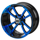 "12"" - ""Storm Trooper"" Black/Blue Low Profile Tire and Wheel Combo"