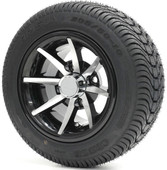 "10"" - ""CLASSIC"" Machined/Black Low Profile Tire and Wheel Combo"