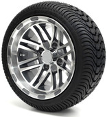 "12"" - ""TALON"" Machined/Gun Metal Low Profile Tire and Wheel Combo"