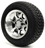 """10"""" - """"ELITE"""" Machined/Black Low Profile Tire and Wheel Combo"""