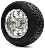 "10"" - ""SKYLINE"" Polished Low Profile Tire and Wheel Combo"