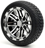 "12"" - ""TALON"" Machined/Black Low Profile Tire and Wheel Combo"