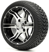 """12"""" - """"STINGRAY"""" Machined/Black Low Profile Tire and Wheel Combo"""