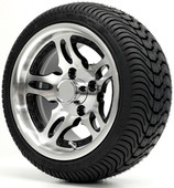 """12"""" - """"DAGGER"""" Machined/Black Low Profile Tire and Wheel Combo"""