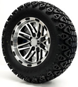 """Talon"" - 12"" Machined/Black Lifted Tire and Wheel Combo"