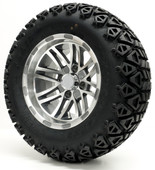 """Talon"" - 12"" Machined/Gun Metal Lifted Tire and Wheel Combo"