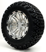 """Talon"" - 12"" Polished Lifted Tire and Wheel Combo"