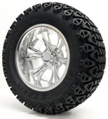 """Barracuda"" - 12"" Polished Lifted Tire and Wheel Combo"